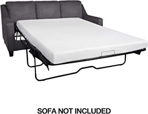 Milliard 4.5 Inch Memory Foam Replacement Mattress with Breathable, Waterproof and Washable Cover for Full Size Sleeper Sofa and Couch Beds (Sofa Not Included) - Full