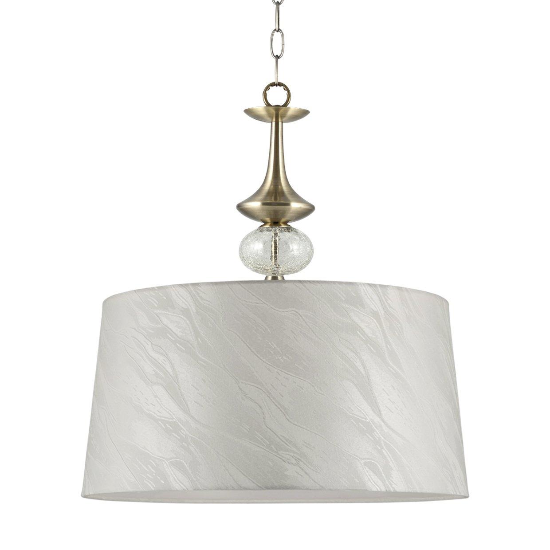 Iluminación AJP Carmen - Lámpara de techo colgante en cuero y pantalla textil: Amazon.es: Iluminación