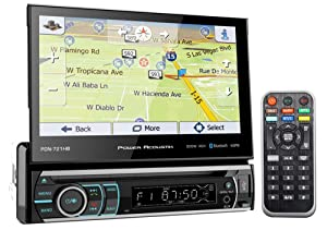 "Power Acoustik PDN-721HB 7"" 1-Din Car Bluetooth Receiver w/DVD/GPS/Navigation"