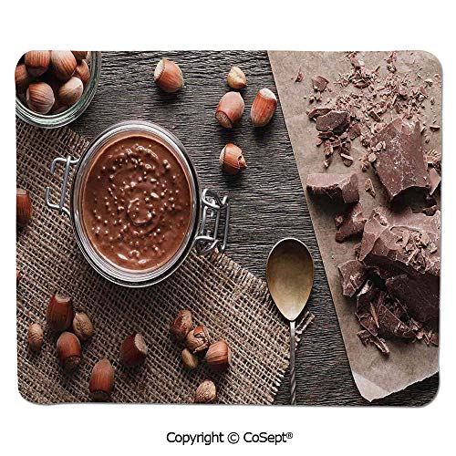 - Gaming Mouse Pad,Natural Chocolate Cocoa Cream Image Rustic Style Image Cafe Home Art Design Wooden Surface,for Computer,Laptop,Home,Office & Travel(15.74