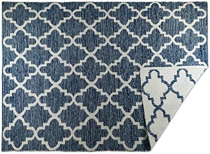 DII CAMZ10419 Indoor Flatweave Cotton Handloomed Yarn Dyed Woven Reversible Area Rug