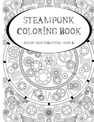 Steampunk Coloring Book Color Industrial product image