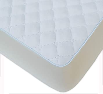 Amazon.com : BlueSnail Waterproof Quilted Pack N Play Crib Mattress Cover - Fits All Baby Portable Mini Cribs, Play Yards and Foldable Mattresses (White) : ...