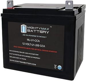 Mighty Max Battery ML-U1 12V 200CCA Battery for IHC Cub Garden 1250 Cub Cadet Lawn Mower Brand Product