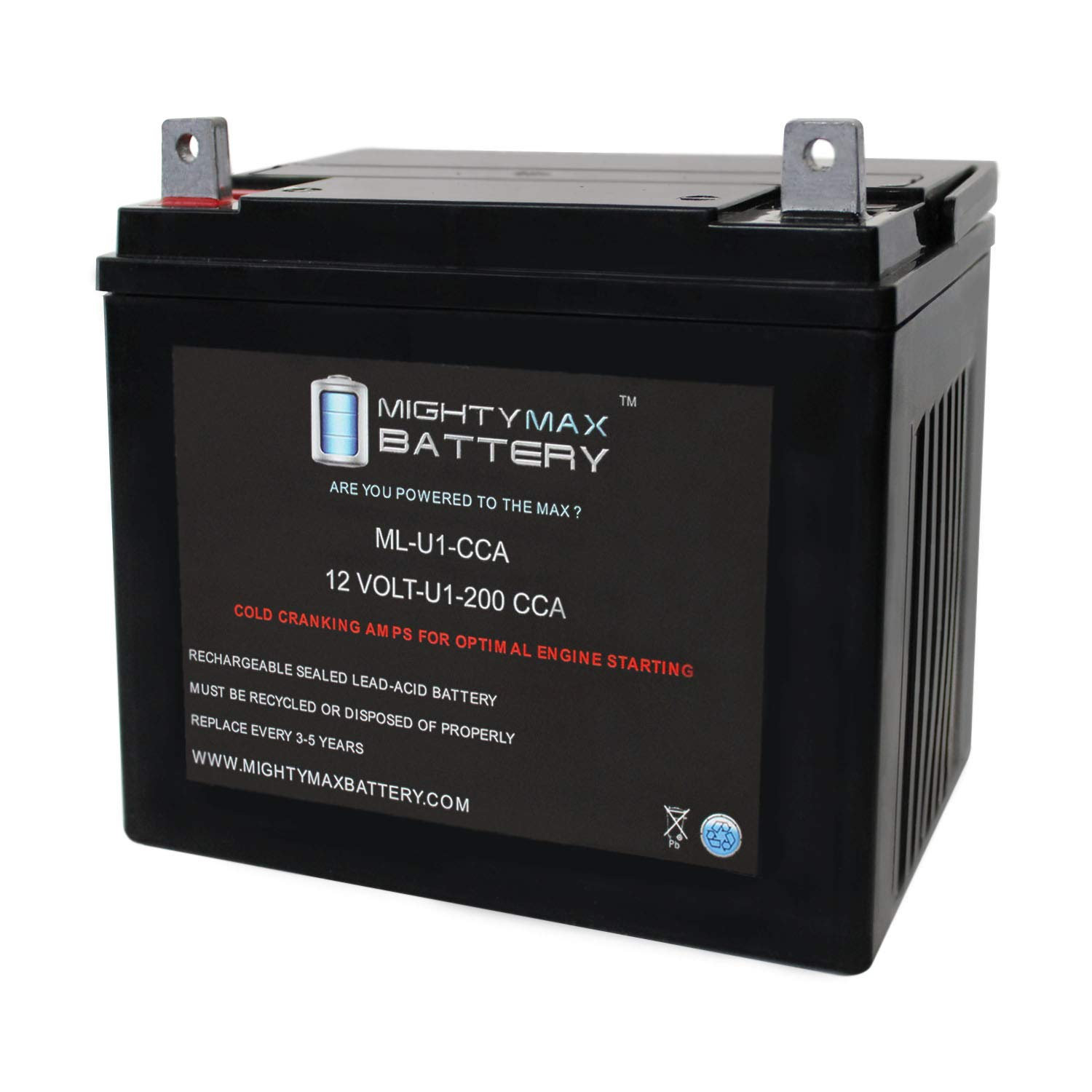 Mighty Max Battery ML-U1 200CCA Battery for John Deere L100 17 HP Lawn Tractor and Mower Brand Product