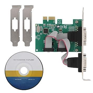 ASHATA Tarjeta de Puerto Serie RS-232 PCI-E de 2 Puertos ...