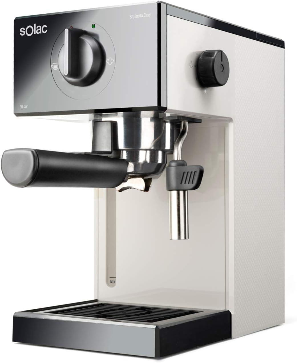 Solac CE4504 Squissita Easy Blue - Cafetera espresso, 20 bar, Double Cream, Espresso y Cappuccino, 1050 W, Portafiltros 1 ó 2 cafés, Monodosis/molido, Vaporizador de acero inoxidable, 1.5 l, Azul: Amazon.es: Hogar