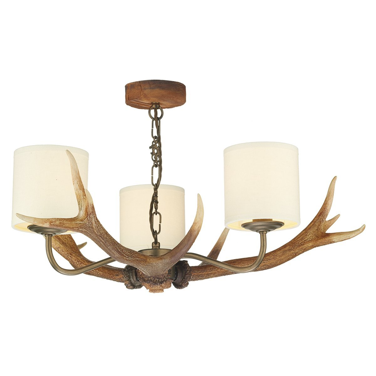 Antler 3 Light Candle-Style Chandelier Finish: Highland Rustic ...