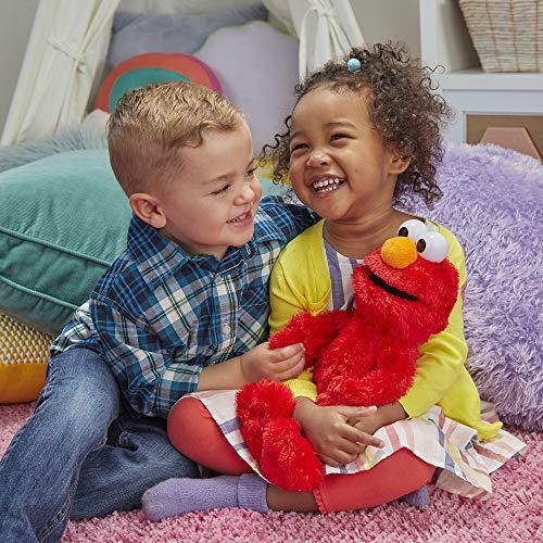 "61w%2BTci2aHL - Sesame Street Love to Hug Elmo Talking, Singing, Hugging 14"" Plush Toy for Toddlers, Kids 18 Months & Up"
