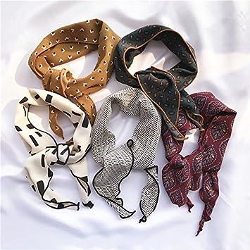 YRXDD Primavera párrafo salvaje pequeñas bufandas mantones damas decoradas moda impresiones triangular toalla, rayas finas planas: Amazon.es: Deportes y ...