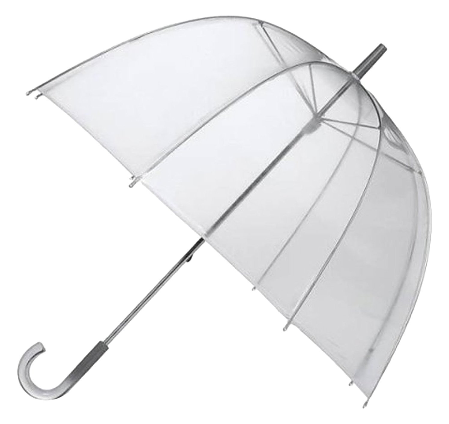 46'' Clear Dome/Bubble Umbrellas - Pack of 10 - Perfect for Weddings and Events