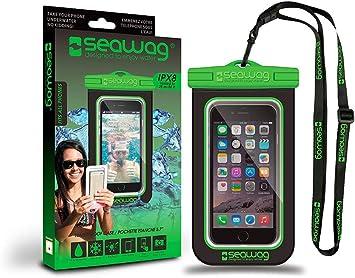 Seawag B4X Funda acuática para Smartphone Sumergible 25 m, Negro/Verde: Amazon.es: Electrónica