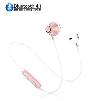 SLuB Auriculares Bluetooth 4.1 Inalámbricos Cascos Deportivos con ...