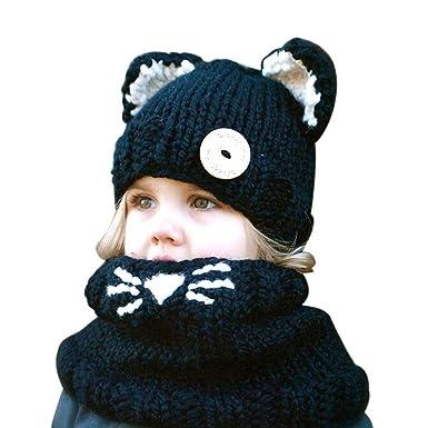 ab0084edccc7 King Star Fille Garçon Unisexe Bébé Enfant Cagoule Bonnet Casquette Chapeau  Tricot Polaire Hiver Chaud Mignon