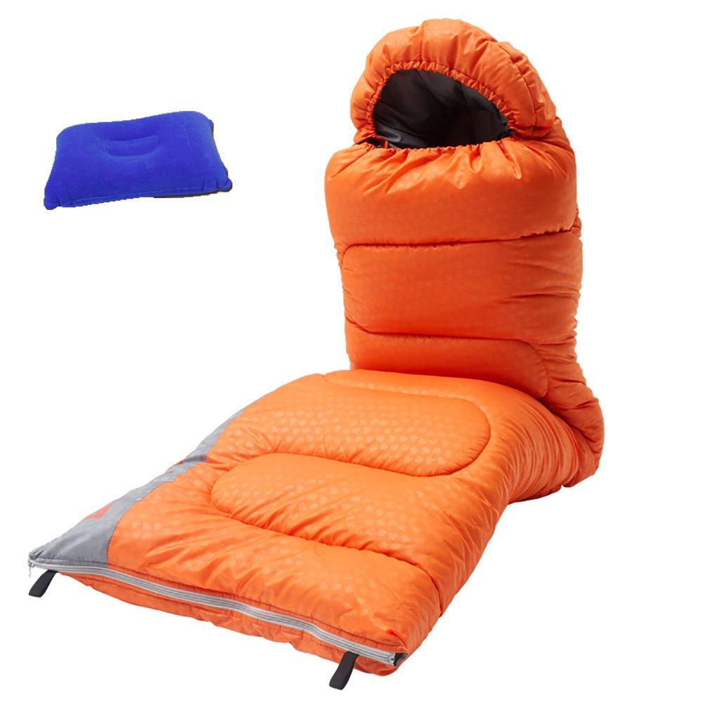 シングルスリーピングバッグウォーム、キャンプハイキングスリーピング、防水 (色 : Orange, サイズ さいず : 1.8GSM) B07F9N3LVK 1.8GSM Orange Orange 1.8GSM