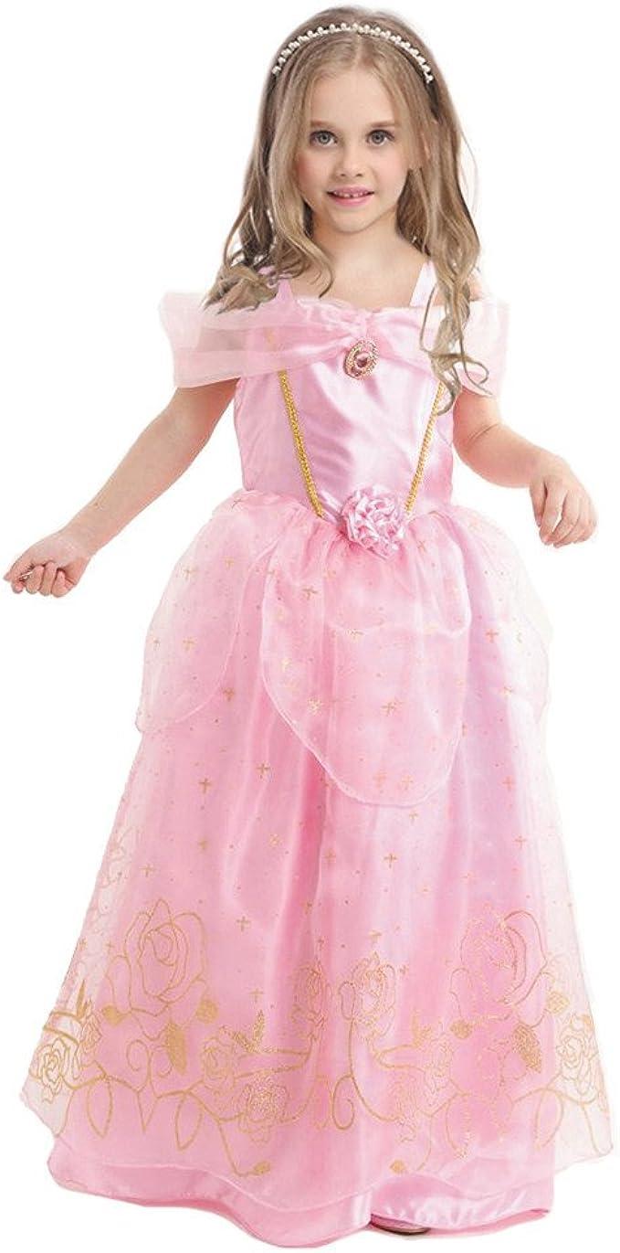 enjoyfashion niña disfraz de princesa Aurora Fancy Cosplay Vestido ...