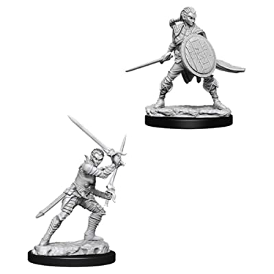 Pathfinder Deep Cuts Unpainted Miniatures: Female Elf Fighter: Toys & Games