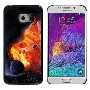 Be Good Phone Accessory // Dura Cáscara cubierta Protectora Caso Carcasa Funda de Protección para Samsung Galaxy S6 EDGE SM-G925 // Asteroid Exploding Star Sun Fire Universe Art