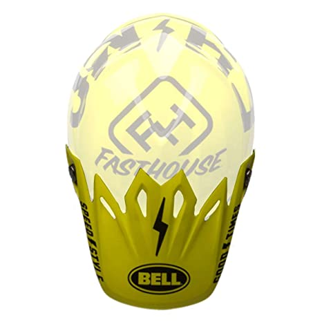 c374ce65 Amazon.com: Bell Powersports Moto-9 Helmet - Replacement Visor - Fasthouse  Black/Flo Yellow - 7086424: Automotive