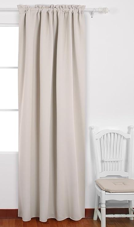Amazon Deconovo Rod Pocket Curtain Blackout Shades Room Awesome Blackout Shades Baby Room