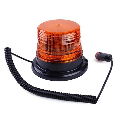 LED Car Truck Bus Magnetic Flash Emergency Beacon Strobe Light Warning Alarm 12V