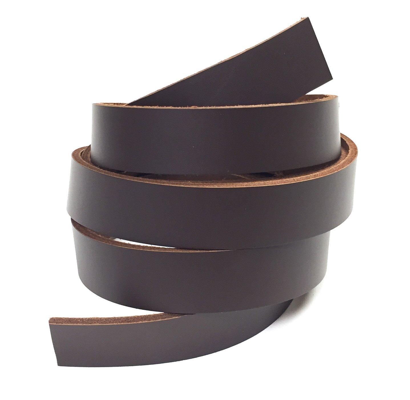 "Black 30 Feet 1//4/"" Genuine Leather Strap 5oz Premium Cowhide Strip"