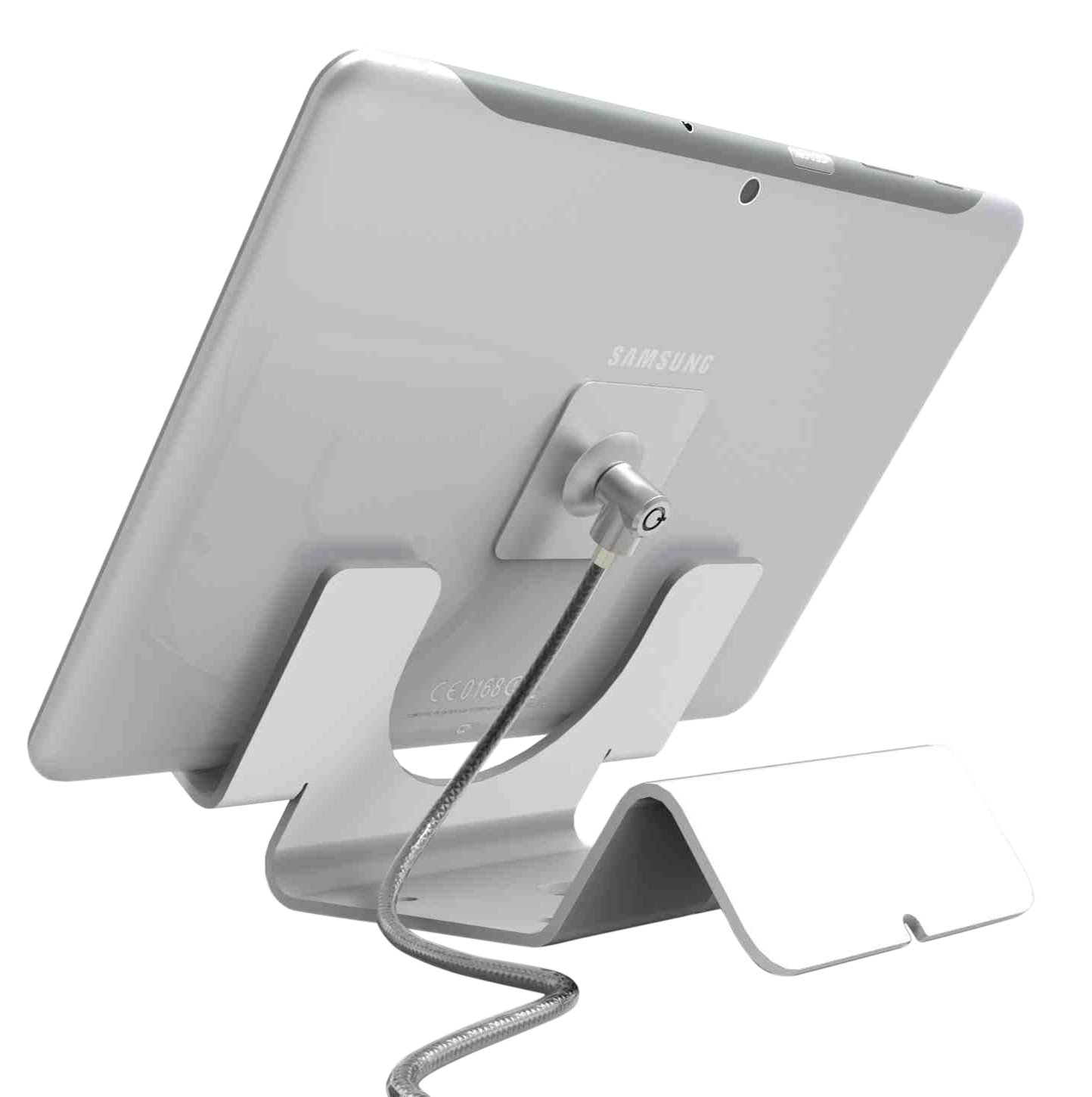 Compulocks Security Stand for Samsung Tablets, White (CL12UTHWBGLX)