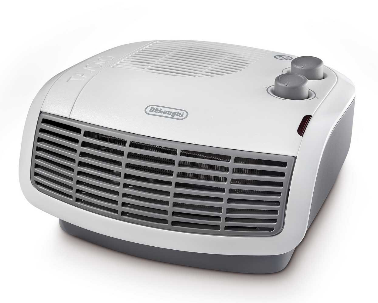 De'longhi HTF3033 Horizontal Fan Heater, 3 KW - White/Grey (Certified Refurbished) Delonghi
