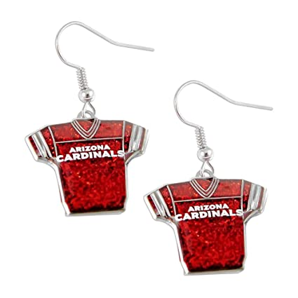 5a7bd91a7fca Image Unavailable. Image not available for. Color  Arizona Cardinals  Glitter Jerseys Sparkle Dangle Logo Earring ...