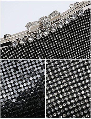 Bag Diamante Clutch Party Handbag ME68006 Clasp Gold Purse Ladies Women's qTt4Scqf