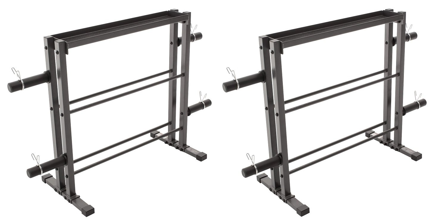 Combo Weights Storage Rack for Dumbbells, Kettlebells, and Weight Plates DBR-0117 (Pack of 2) by Marcy
