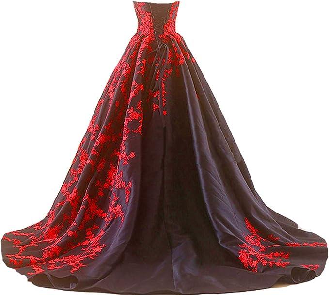 Gothic Black Corset Wedding Dress