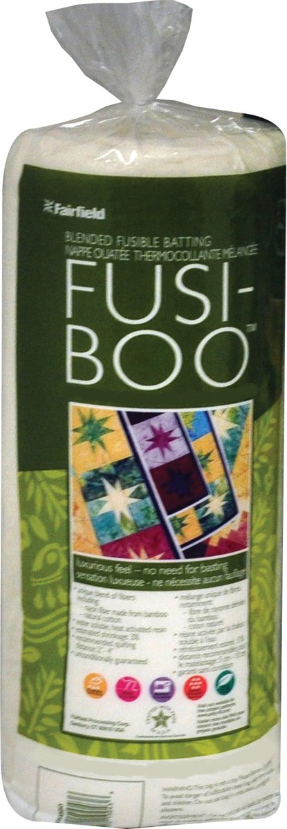 Fairfield Fusi-Boo Bamboo Fusible Batting-Queen/King Size 100 by 116-Inch FOB:MI Fusi Boo 445770