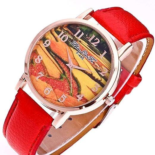 Scpink Relojes de Cuarzo para Mujeres, Liquidación analógica a la Venta Patrón de Campos en