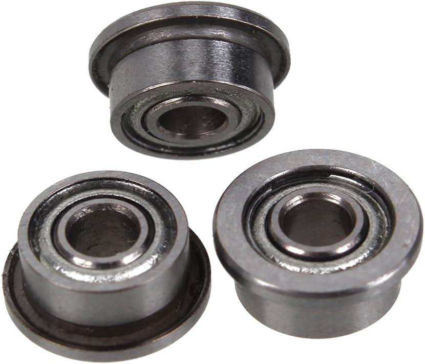 X2,5 millimeter BQLZR MF52ZZ 2 x 5 Metal apantalladas brida cojinete de bolas de precisi/ón Set 10 unidades