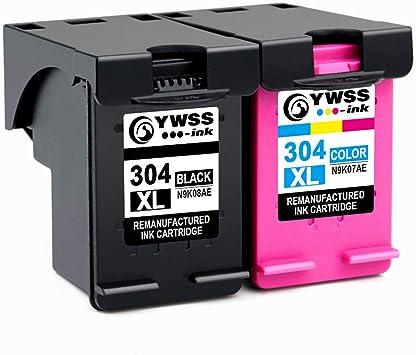 YWSS Remanufacturado Cartucho de Tinta para HP 304 XL HP 304 Alto ...