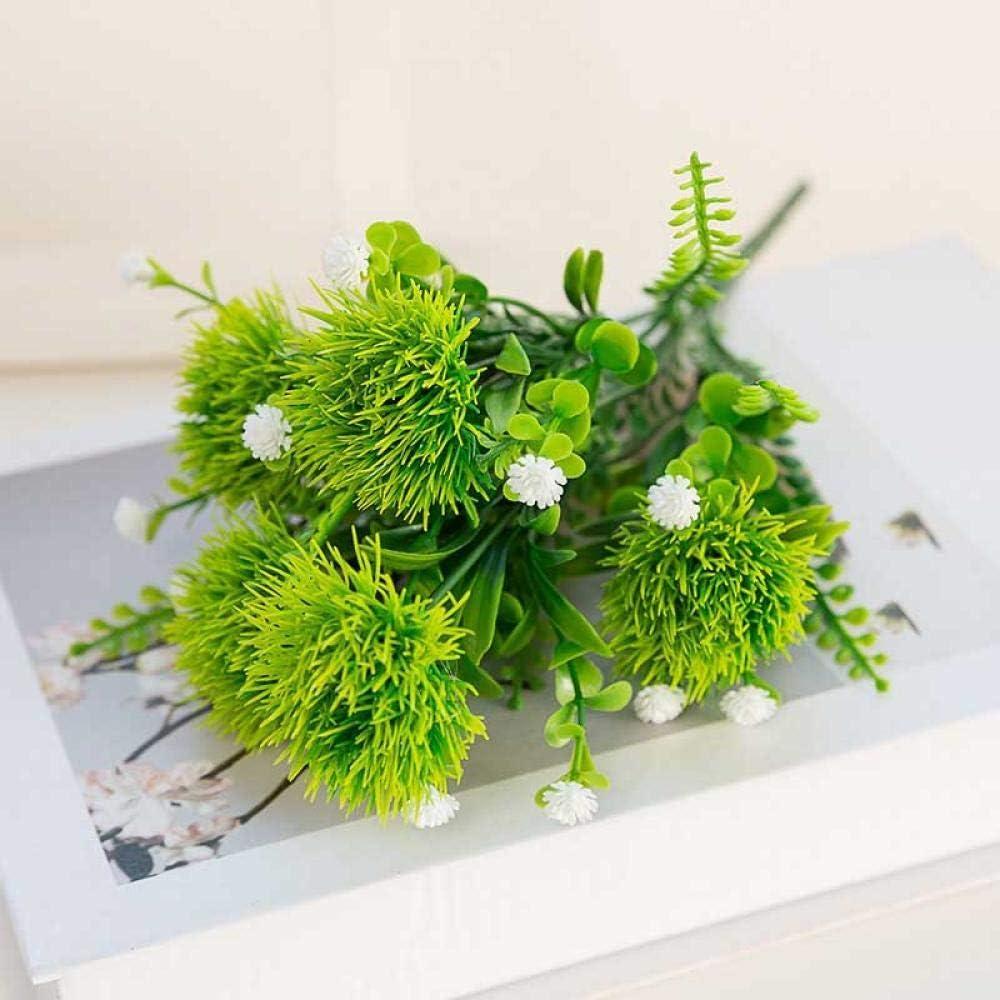 Flores Artificial Bola De Seda Linda Colorida Flor De Crisantemo Falso Diente De León Artificial 5 Cabezas/Ramo Decoración De Jardín Al Aire Libre Planta De Flores