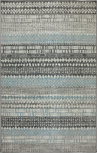 Karastan Euphoria Eddleston Woven Rug, 3'6x5'6, Ash Grey (Karastan Geometric Rug)