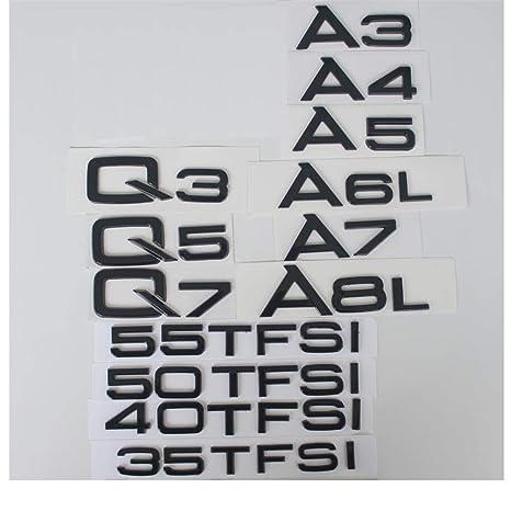 Car ABS Badge 3D Emblem Logo /'RS8/' rear trunk o for Audi Sportback TFSI RS8