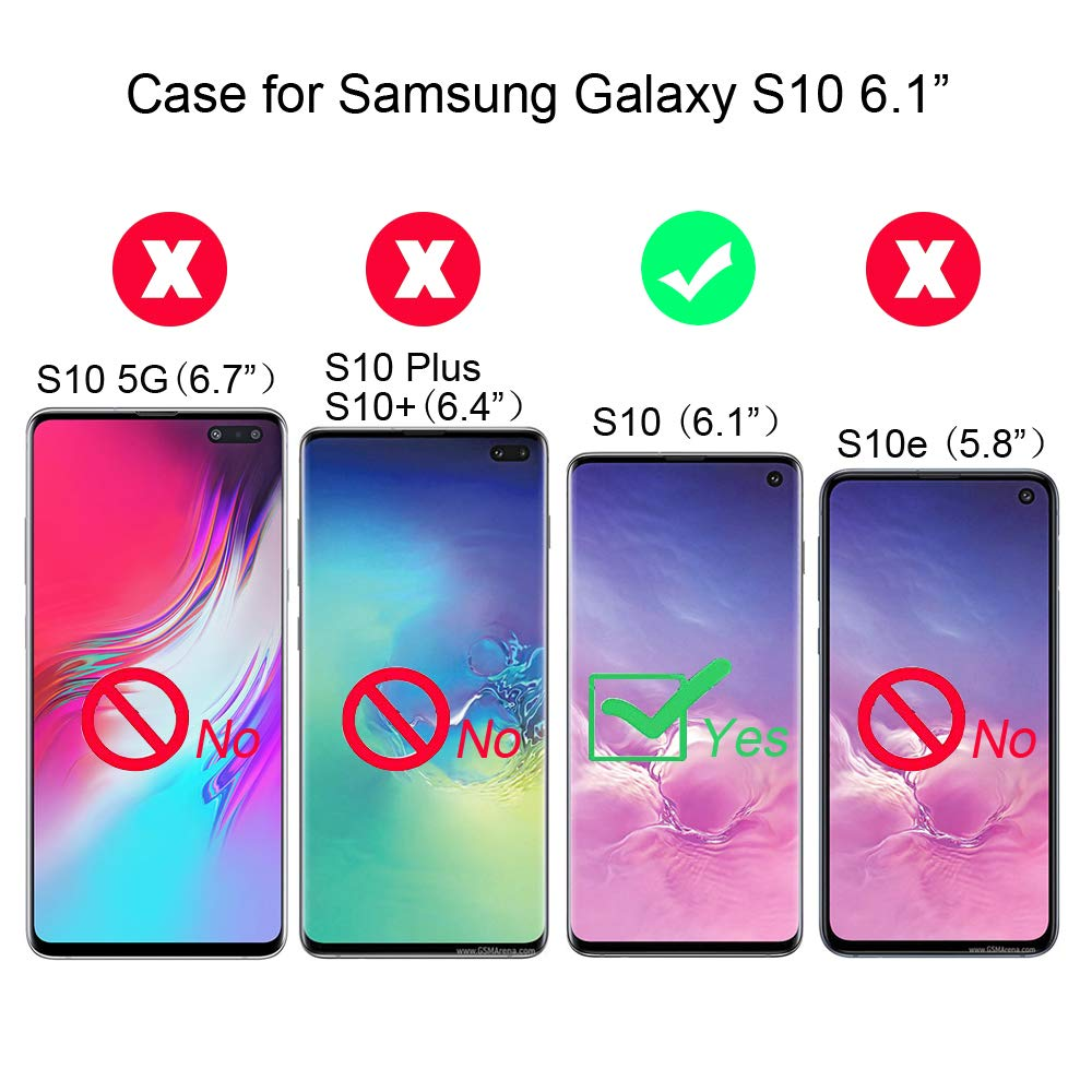 Abuenora Funda para Samsung Galaxy S10 Carcasa Transparente Silicona Antigolpes 360 Case con Purpurina Lentejuelas L/íquido Agua TPU Dibujo Unicornio Mensajero