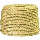 Ship Now Supply SNTWR131 Sisal Rope, 3/8'', 865 lb, 500', 0.375'' width, Natural