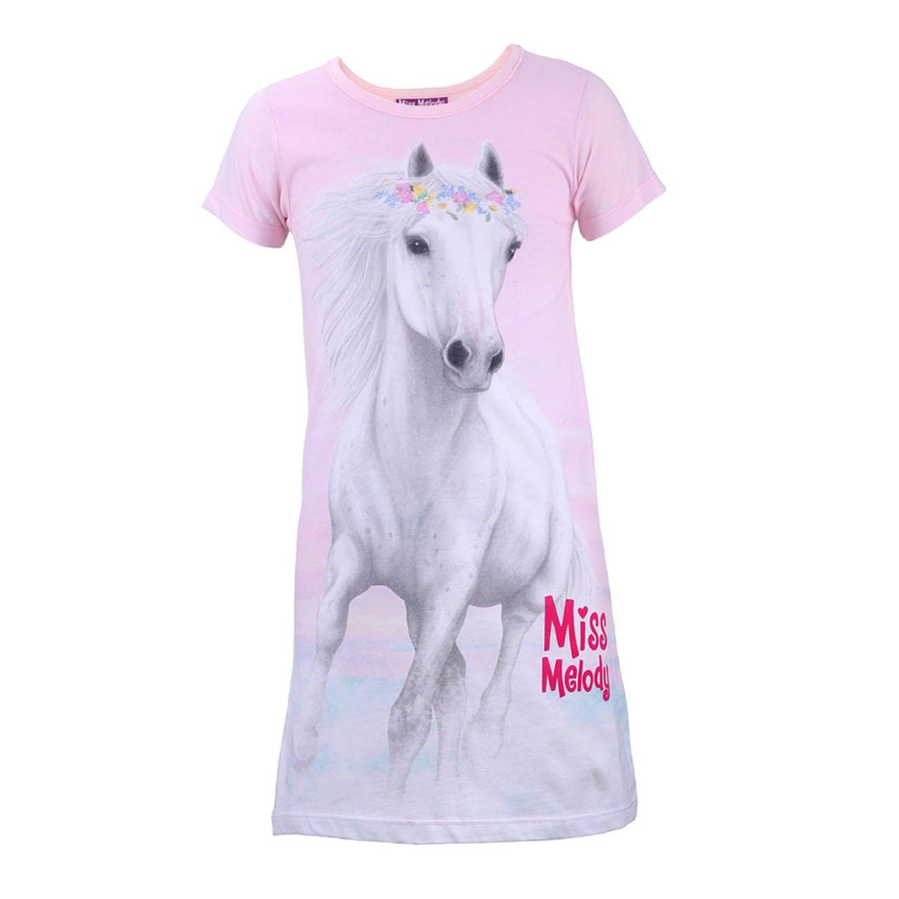 Miss Melody Ragazze Camicia da notte, rosa taglia 104 4 anni