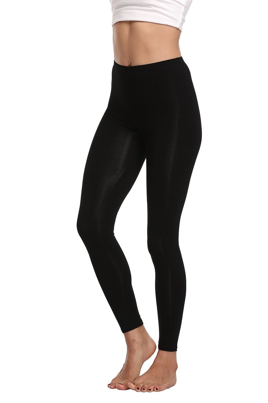 b45fe9c607 FASHIONBUY solid legging length: 33.5in; Inseam: 22.5 in. High elastic  spandex fabric lends plenty stretch to FASHIONBUY\'s full length leggings,  ...