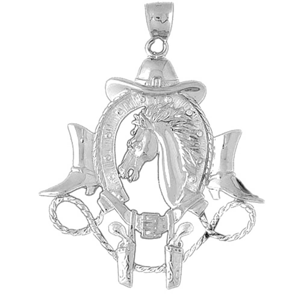 Jewels Obsession Horse Head Necklace 14K Rose Gold-plated 925 Silver Horse Head Pendant with 18 Necklace