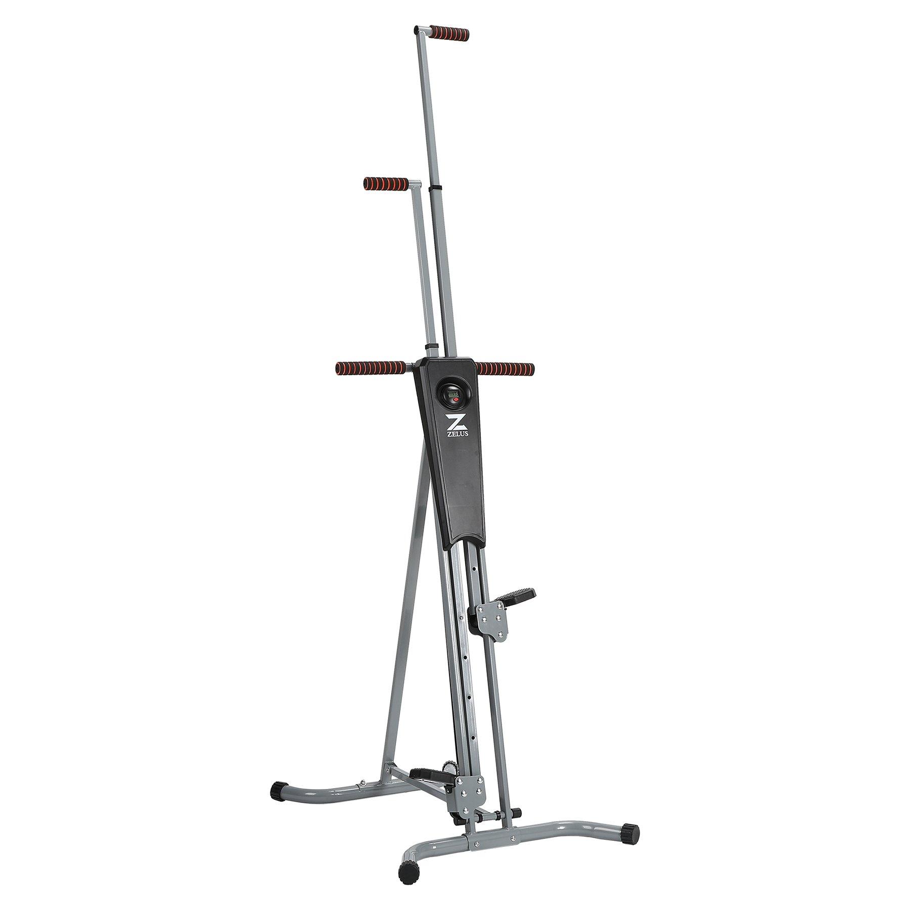 ZELUS Vertical Climber Machine Fitness Climbing Equipment for Home Gym Step Climber Exercise Machine