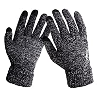 Winter Knit Thick Warm Gloves,Anqier Windproof Touchscreen Gloves for Men & Women
