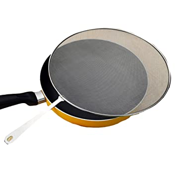 Teerfu 13 Stainless Steel Splatter Screen For Frying Pan With Super Fine Mesh And