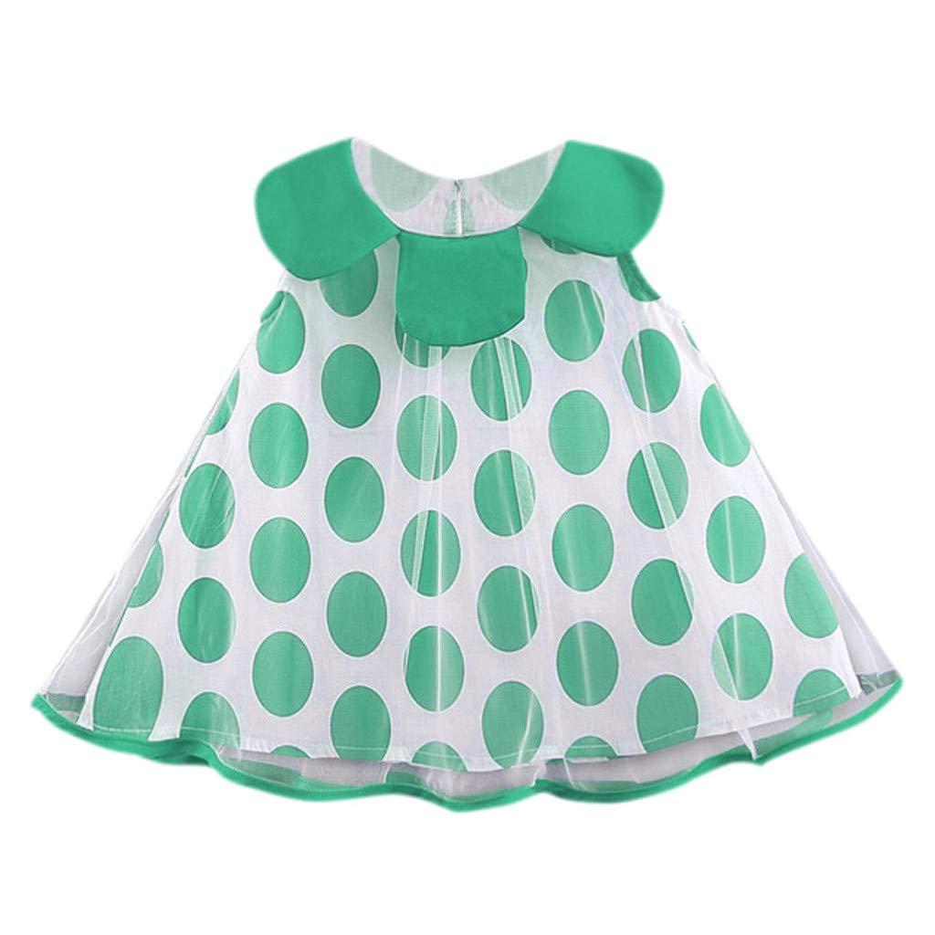 Baby Casual Dress,Fineser Infant Baby Girls Sleeveless Polka Dot Tulle Princess Dress Toddler Sundress Skirts Summer