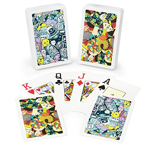Copag Neo Nonsense 100% Plastic Playing Cards, Bridge Size, Jumbo Index Limits Playing Cards