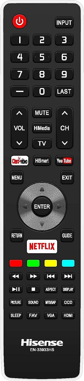 USARMT Reemplazo Hisense EN33933HS Mando a Distancia TV Compatible con Hisense 32K366W, 40K366W, 50K366W, L50K610GW, 55K610GW, 46K360M, 32K20DW, 50K610GWN Smart TV: Amazon.es: Electrónica